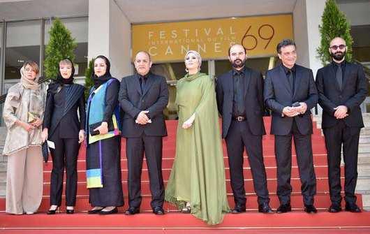 عکس های بازیگران فیلم وارونگی در جشنواره کن